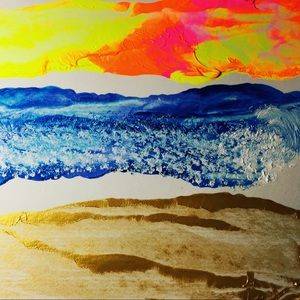 """""""The beach lives within you""""- Abstract Art"""